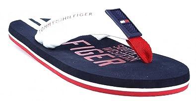 097439c49 Image Unavailable. Image not available for. Colour  Tommy Hilfiger  Int-Bernard 5 White Blue Men s Flip-Flops White Size  10