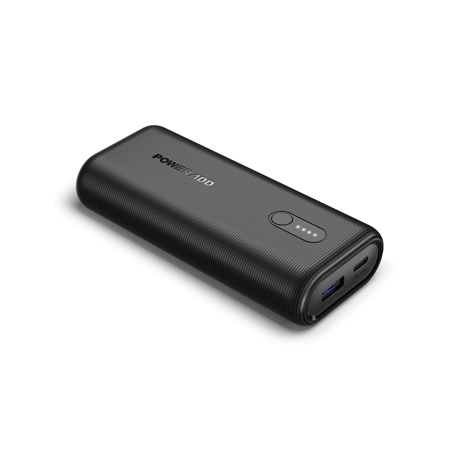 Poweradd 10000mAh 18W Power Delivery USB C Portable Charger Power Bank Fast Charge Compatible for iPhone 11, 11 Pro, 11 Pro Max, iPad, Samsung, Huawei, most other Phones and Tablets-Black