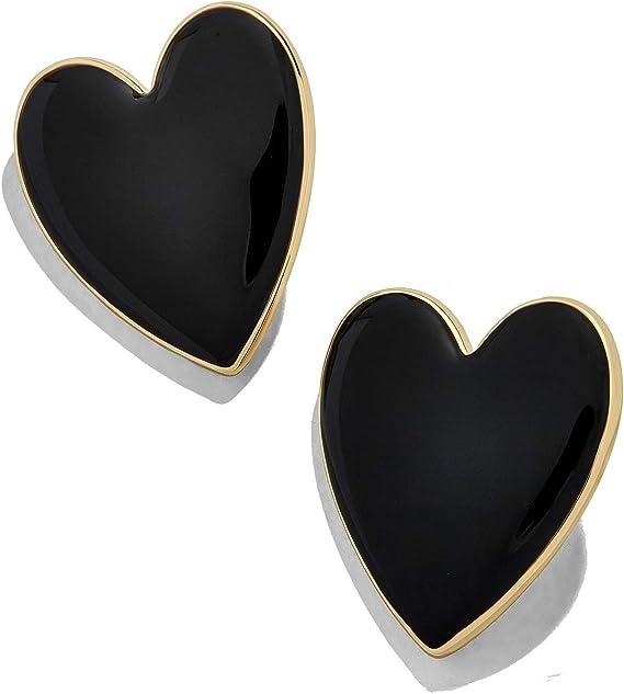 Large Circle Heart Hoop Earrings for Women Romance Enamel Big Statement Earrings