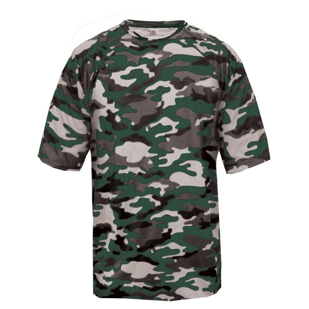 Badger Sport Youth Camouflage Tee (X-Small, Forest Camo)