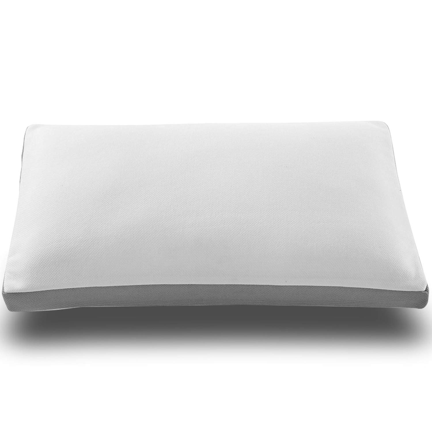 Noffa Shredded Memory Foam Pillow Neck Support Pain Relief Pillow with Washable Pillow Case, Adjustable Bed Pillow for Back and Side Sleeper, Queen Size