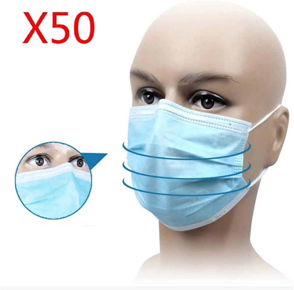 50stk desechables Máscaras Protector Bucal Máscara Máscaras de protección bucal una vez 9cmx17.5cm