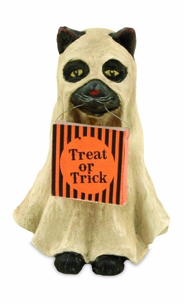 Bethany Lowe Trick or Treat Collection Halloween Ghost Cat Figure, 3' x 2' 3 x 2 TD5027