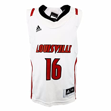 7a3a687d8 adidas Louisville Cardinals NCAA Boys White Official Home Replica  16 Basketball  Jersey (4)