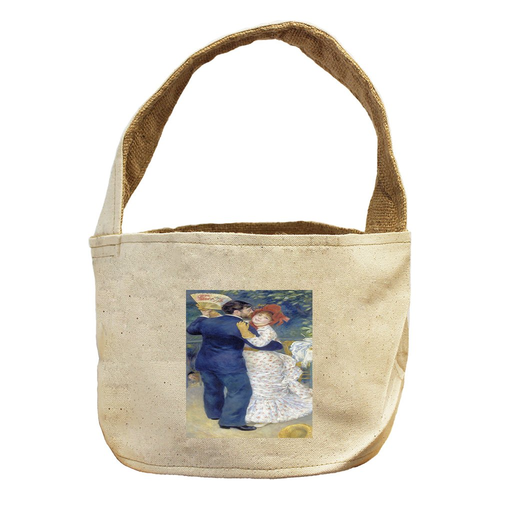 Style in Print Country Dance (Renoir) Canvas and Burlap Storage Basket Basket