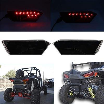 SOYAVISION 2Pcs Smoke Lens LED Tail Light Rear Driving Lamp Taillight Replacement for Polaris RZR 1000 XP/Turbo 900 S RZR 4 2014-2020: Automotive