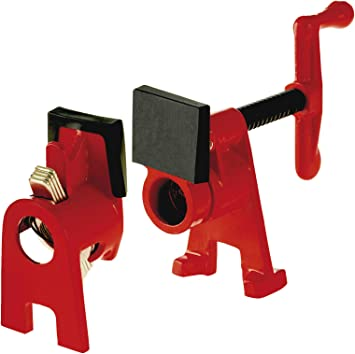 Bessey Bpc H34 3 4 Inch H Style Pipe Clamp Red Amazon Com