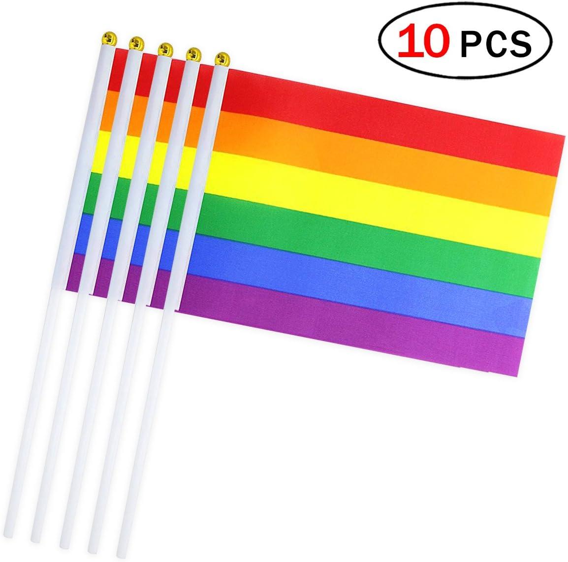 10pcs Banderas de Mano 14 * 21cm Bandera Pequeña Flags Decoración ...