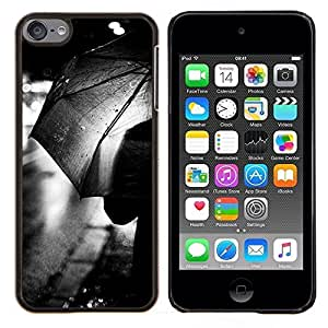 Eason Shop / Premium SLIM PC / Aliminium Casa Carcasa Funda Case Bandera Cover - Rain City Lights Negro Blanco - For Apple iPod Touch 6 6th Touch6
