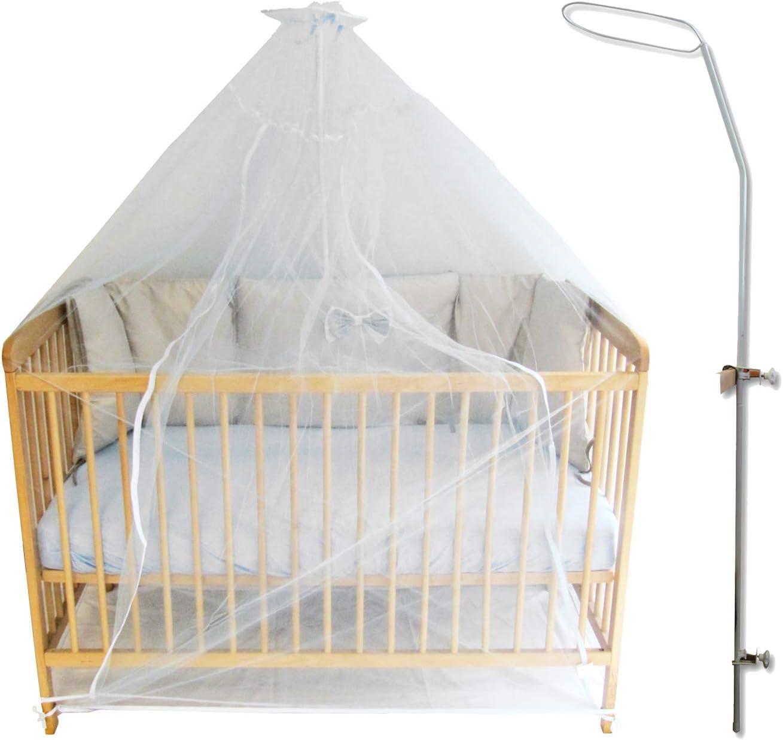 Fl/èche de lit avec son voile blanc moustiquaire ciel de lit b/éb/é et enfant