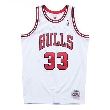 Mitchell & Ness Chicago Bulls Scottie Pippen 33 Camiseta Sin Mangas: Amazon.es: Ropa y accesorios