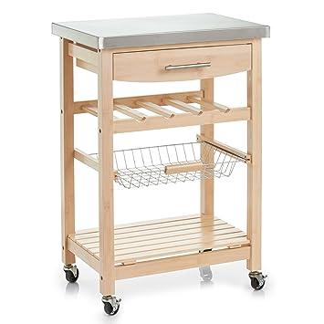 Zeller 13777 carrello cucina, Bamboo/acciaio inox TOP: Amazon.it ...