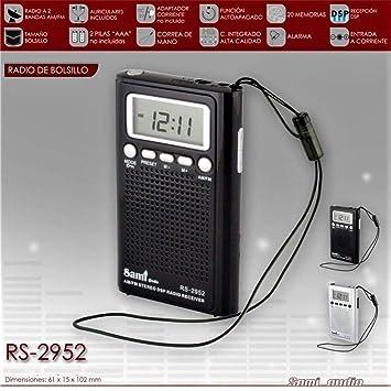 Radio De Bolsillo Digital - 20 Memorias - Am/FM: Amazon.es: Electrónica