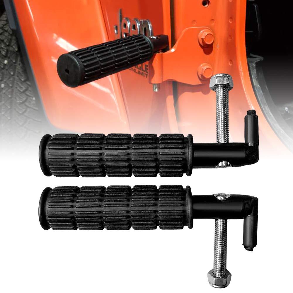 AMERICAN MODIFIED Tube Style Steel Foot Pedals Foot Pegs for 2007-2019 2/&4 Door Jeep Wrangler JK JKU JL Accessories Black Pair
