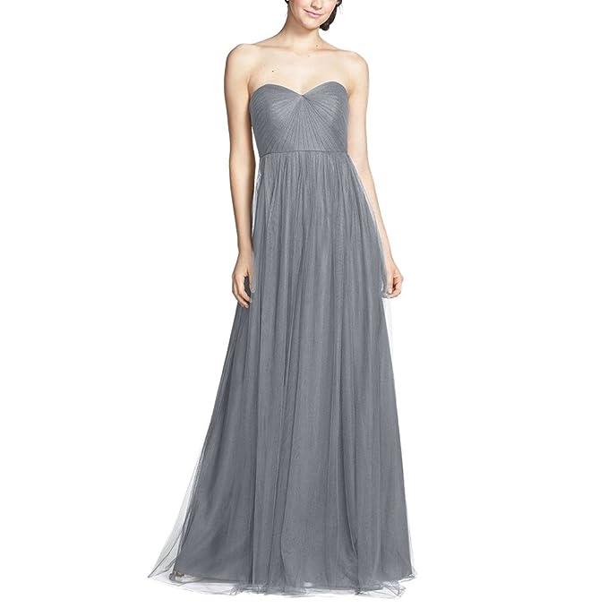 iShine Mujer Vestido Largos Elegantes Sin Mangas de Malla para Fiesta de Boda Noche
