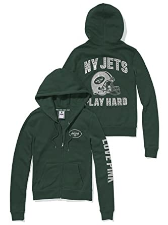 the latest 8803a fde03 Victoria's Secret Pink New York Jets Bling Zip Hoodie X ...