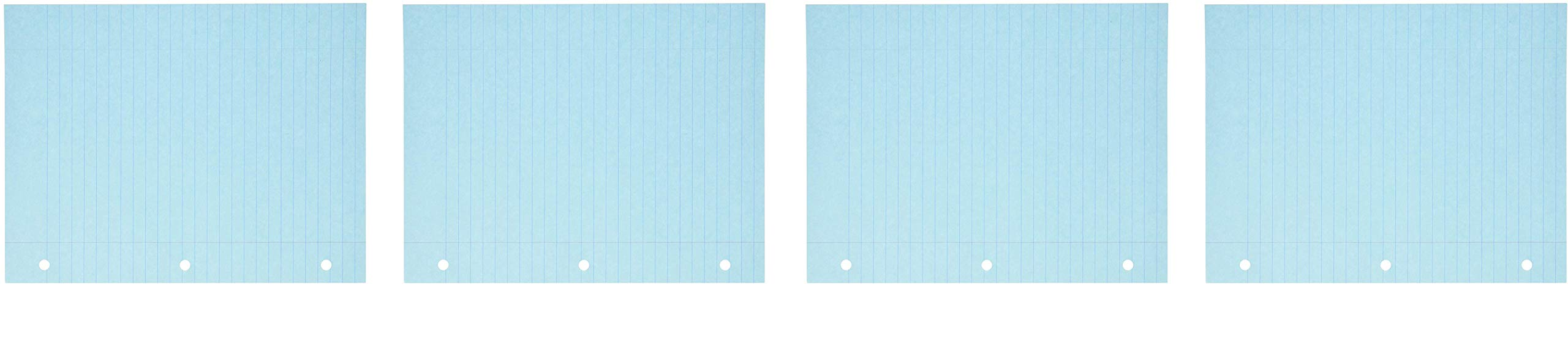 School Smart 3-Hole Punched Filler Paper, 8-1/2 x 11 Inches, Blue, 100 Sheets (4-Pack)