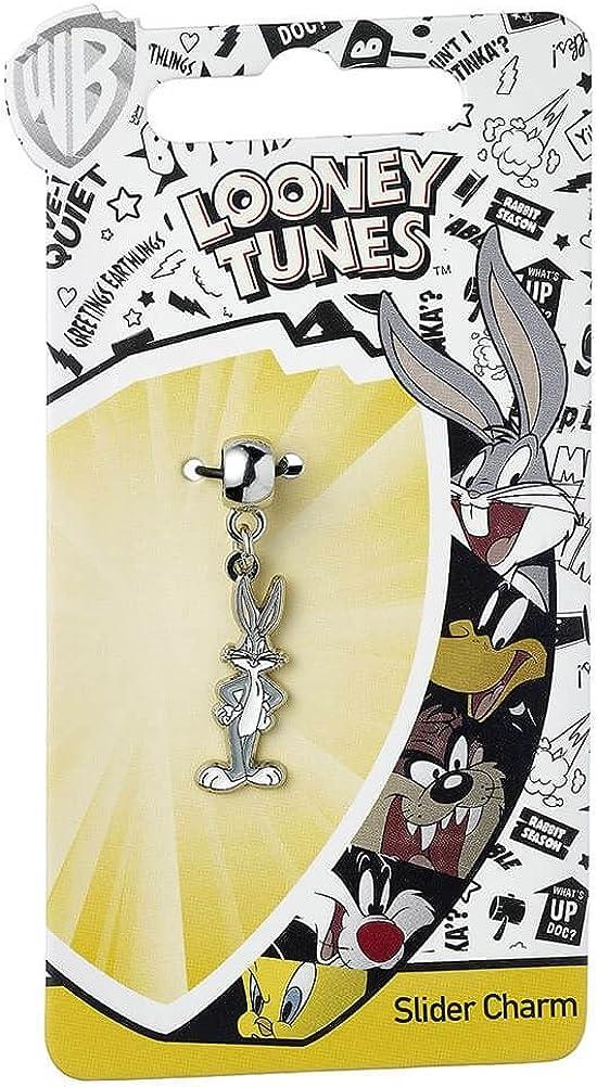 Officiel Looney Tunes Argent Plaqu/é Bugs Lapin Bracelet Slider Charm