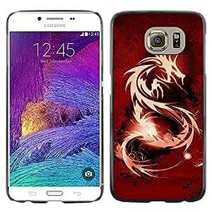 EJOY---Cubierta de la caja de protección la piel dura para el / Samsung Galaxy S6 / --Tribal Dragón Rojo