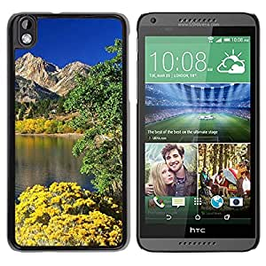 New Custom Designed Cover Case For HTC Desire 816 With Mountain Lake In Spring Nature Mobile Wallpaper Phone Case