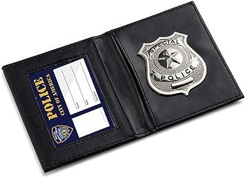 DISTINTIVO DI POLIZIA POLIZIOTTO wallet id card Costume Accessorio speciale di polizia