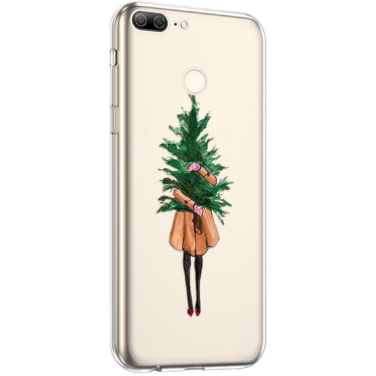 Surakey Silikon H/ülle f/ür Huawei Honor 9 Lite H/ülle,Xmas Christmas Weihnachten Schneeflocke Muster Ultra D/ünn Durchsichtig TPU Silikon Handyh/ülle Schutzh/ülle Case Cover f/ür Huawei Honor 9 Lite
