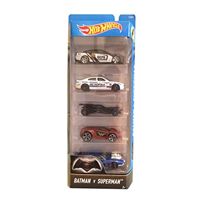Hot Wheels Batman v Superman Vehicle (5 Pack): Toys & Games