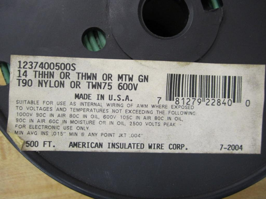 American Insulated Wire 1237400500S Wire: Amazon.com: Industrial ...