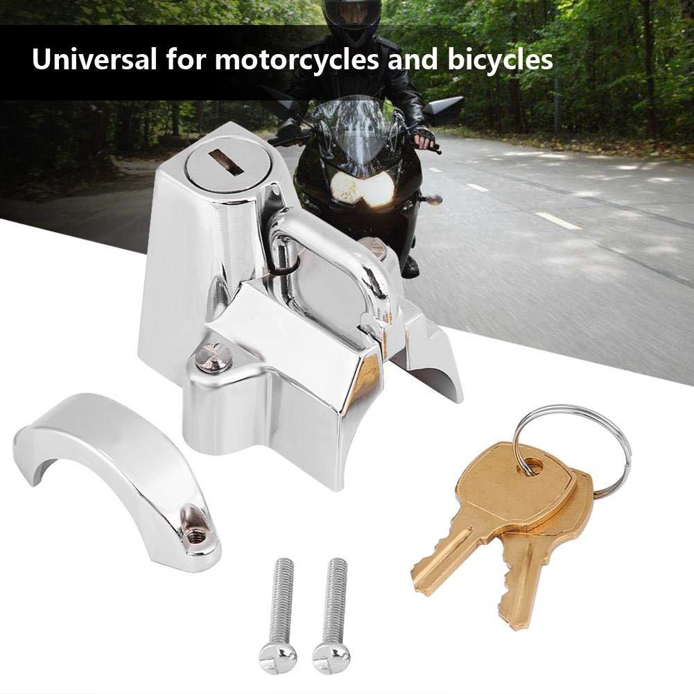 KIMISS Universal Stainless Steel Motorcycle Helmet Lock Hanging Hook with 2 Keys Set