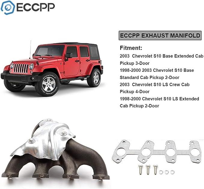 Aintier Automotive Replacement Exhaust Manifold Kit Fits for 1998-2000 2003 Chevrolet S10 1998-2000 2003 GMC Sonoma 1998-2000 Isuzu Hombre