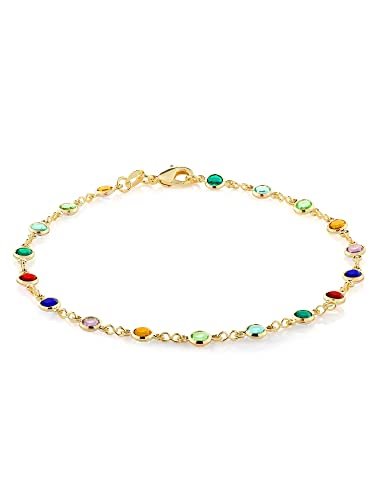 stones legchains multi designs ad imitation anklets payal inch jewelsmart finish gold anklet online colour
