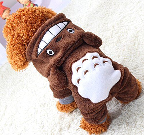 Xiaoyu Puppy Dog Pet Clothes Hoodie Warm Sweater Shirt Puppy Autumn Winter Coat Doggy Fashion Jumpsuit Apparel, Brown, M