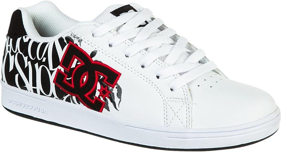 DC Character Skate Shoe , Boys\u0027 White/Graffiti Print, 11.0