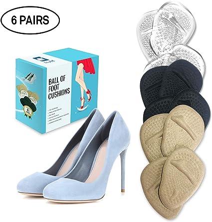 Amazon.com: Cojín de bola de pie 6 pares de almohadillas para pies ...