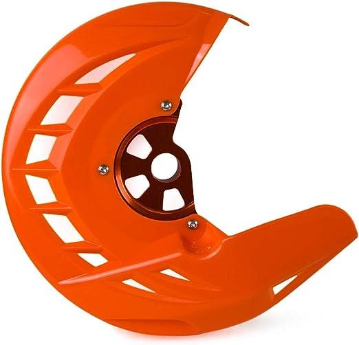 NO LOGO HWW-Brake Freno de Disco Delantero Gaurd Protector de la Cubierta fijado for KTM EXC 125 200 250 300 400 450 500 530 EXC-F SX SX-F XC Frente Disco de Freno Rotor Color : OR Cover