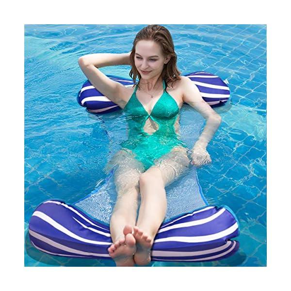 Aiglam Wasser Hängematte Pool Liege Float Hängematte Schlauchboote Schwimmbad Luft Sofa Schwimmstuhl Bett Drifter…