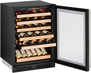 """product image for U-Line U1224WCS00B 24"""" Built-In Wine Storage, Stainless Steel"""