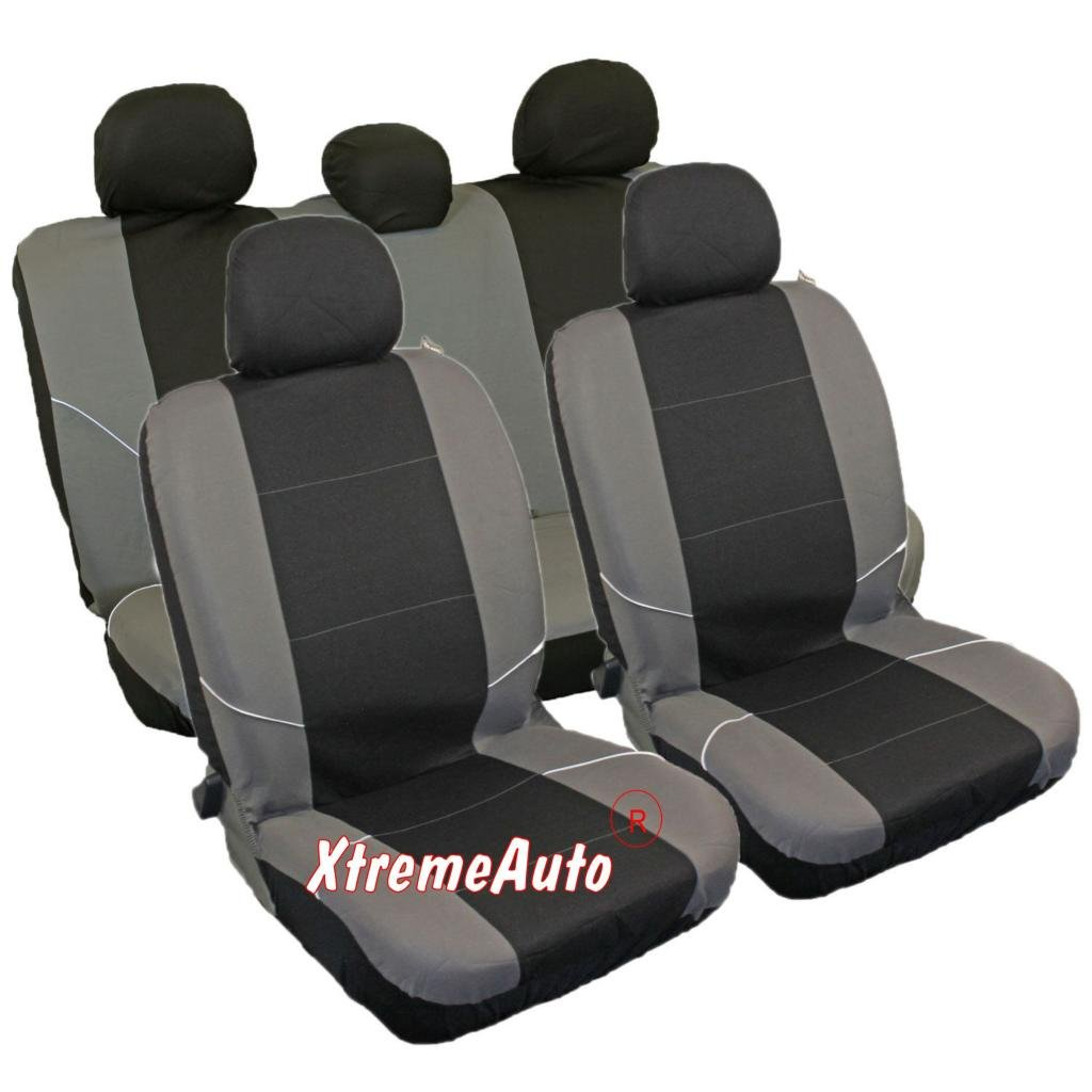 Mr E Saver/© Premium Grey /& Black Trax Seat Cover Set MRE349