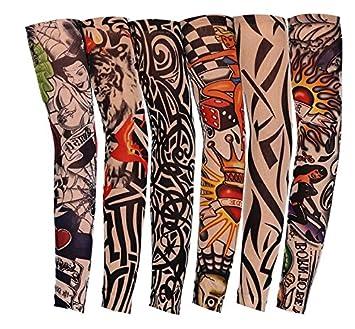 Lomire 6 Pcs Manguitos de Nylon Elástico Tatuaje Mangas Brazo UV protección Solar del Verano 40CM: Amazon.es: Deportes y aire libre