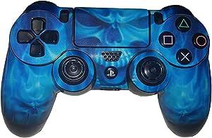 Edencomer Blue Skull Pvc Vinyl Skin Sticker For Playstation 4 Ps4 Controller Game