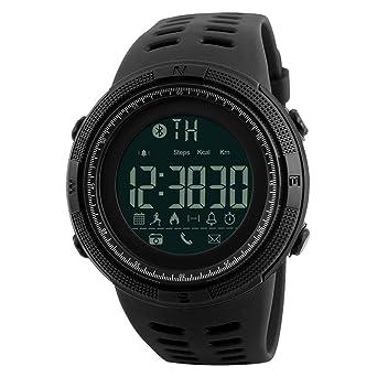 Reloj Digital para Hombre Deportivo Resistente al Agua Reloj de Pulsera Militar Casual electrónico con Alarma Calendario cronómetro Color Negro: Amazon.es: ...