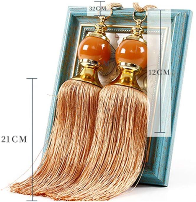 fen/être 1 paire Orange free size Paire dembrasses de rideaux /él/égantes de luxe avec perles prismes boules et pompons pour d/écoration de maison h/ôtel