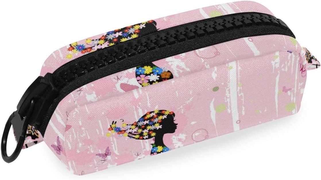 Estuche para lapicero de bicicleta, diseño de mariposa, color rosa: Amazon.es: Oficina y papelería