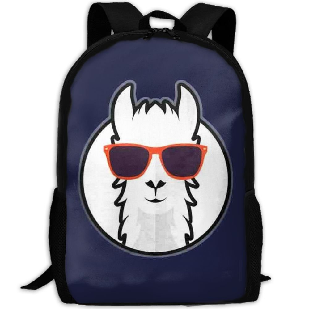 Travel Backpack Laptop Backpack Large Diaper Bag - Cool Llama With Sunglass Backpack School Backpack For Women & Men