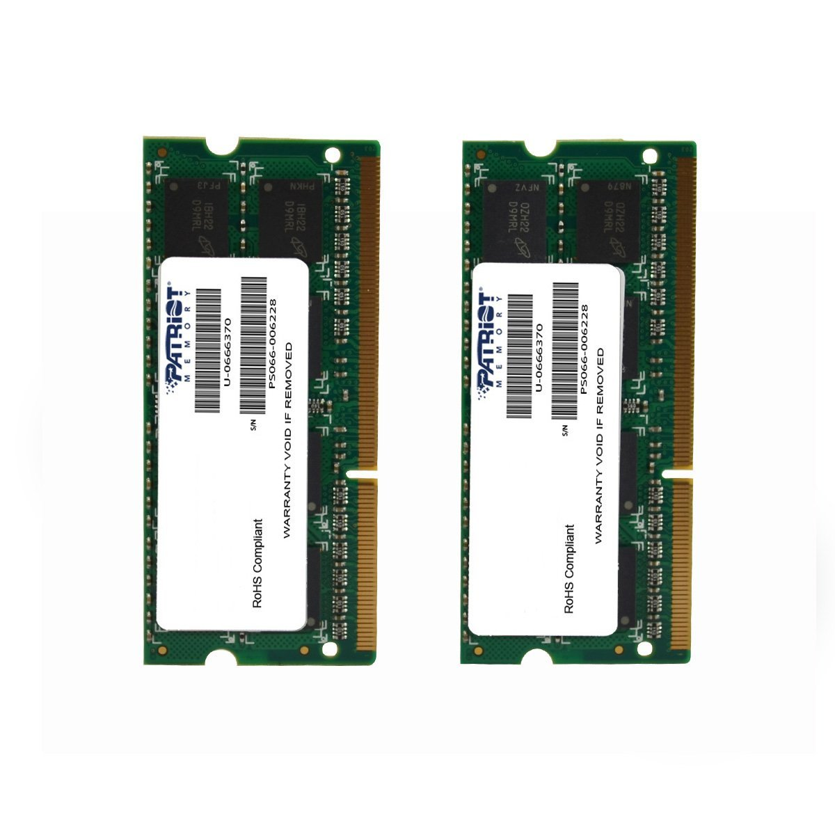 Memoria Ram 8gb Patriot Mac Series Apple Sodimm Kit (2x4gb) Ddr3 1333 Pc3 10600 204-pin So-dimm Psa38g1333sk