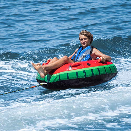Swimline Inflatable Single Rider Watermelon Lake Ocean Water Towable Tube Float (6 Pack) by Swimline (Image #3)