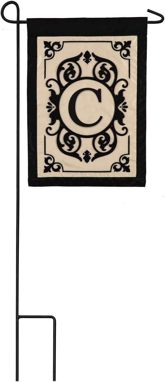 Cambridge Monogram Garden Applique Flag, Letter C - 13 x 1 x 18 Inches