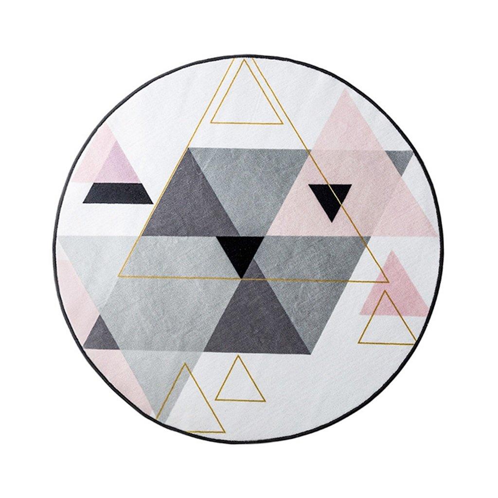 Motif géométrique Tapis Rond Nordique Tapis Home Salon Panier Suspendu Mats (Couleur : #2, Taille : 150cmx150cm) LIYIN-Tapis