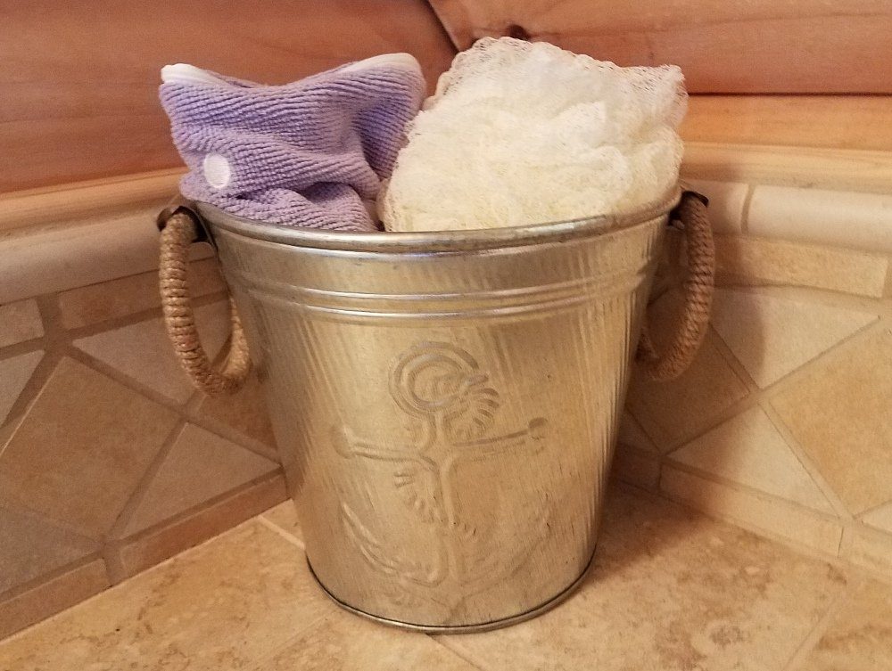 Galvanized Metal Ice Bucket for Drinks or Planter Pail with Rope Handles by KINDWER (Image #7)