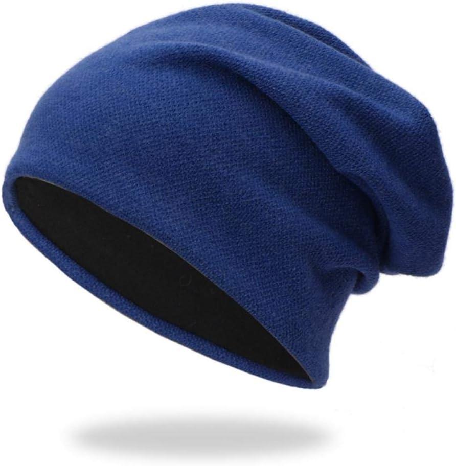 Zamoufm M/änner Beanies Cap Warme Beil/äufige Dicke Atmungsaktive Strickm/ütze Baumwolle Einfache Mode Headwear Outdoor Herbst Winter Warme Strickm/ützen WandernSlouch Beanie M/ütze